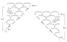 Топ крючком с веерным ажурным узором - Схема 2