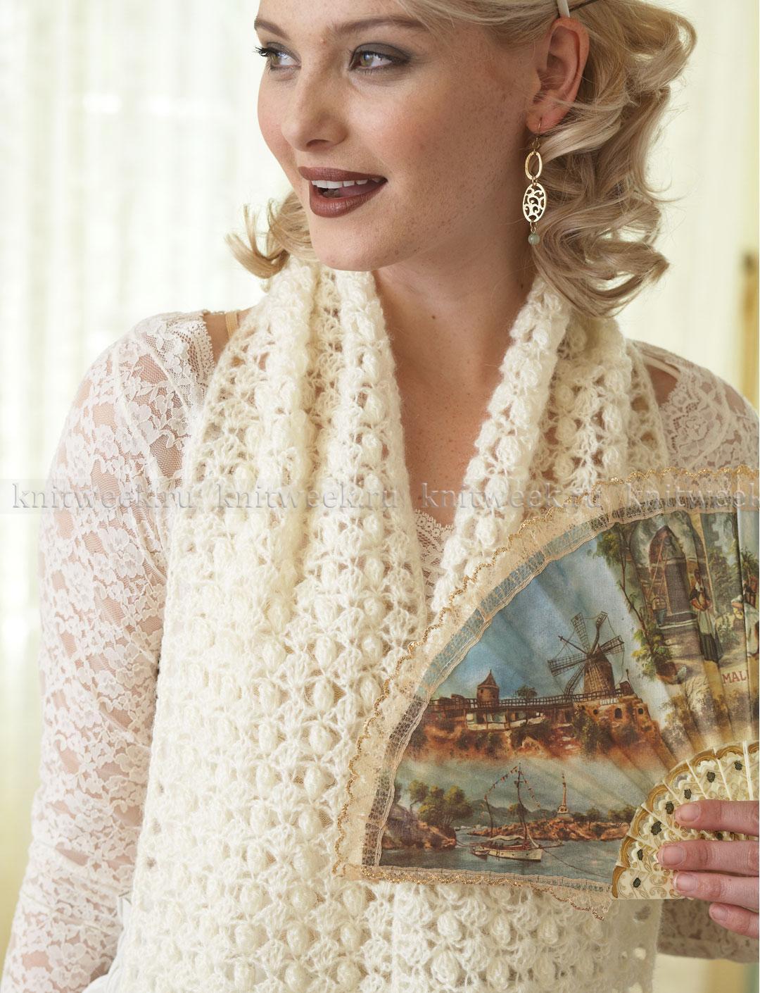 Женский шарф крючком схемы и описание
