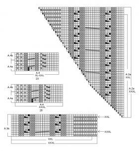 Джемпер зимний колорит - Схема 3