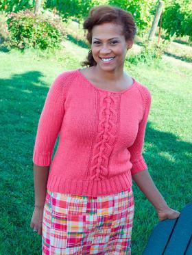Розовый свитер с рукавом реглан