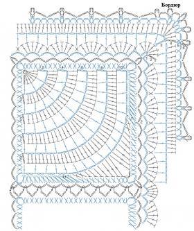 Покрывало с дугообразным узором - Схема 1