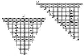 Кофейная шаль спицами - Схема 3
