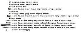 Джемпер зимний колорит - Схема 6