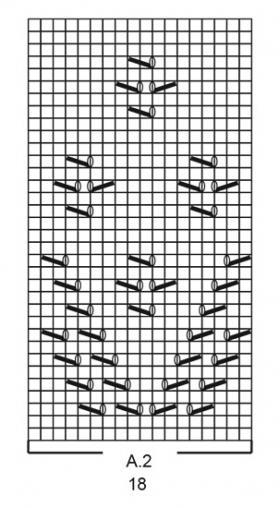 Кардиган Сентябрьское небо - Схема 5