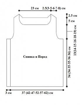 Топ с отверстиями из накидов - Выкройка 1