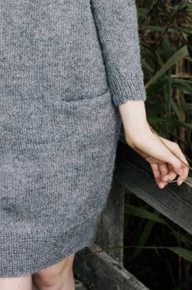 Платье с карманами из альпаки - Фото 1
