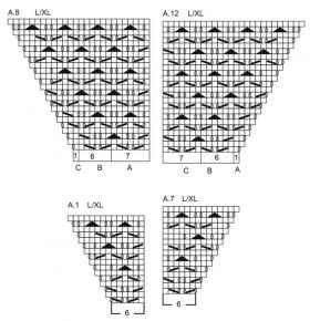 Кардиган зимняя грация - Схема 4