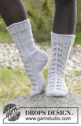 Носки ажурное тепло