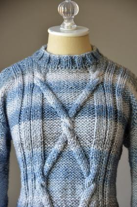 Пуловер голубые струны - Фото 1