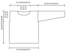 Свободный ажурный джемпер спицами с шишечками - Выкройка 1