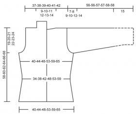 Приталенный женский жакет спицами - Выкройка 1
