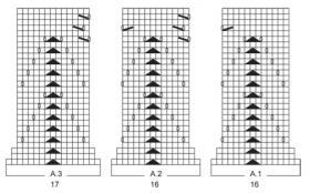 Жакет с прямоугольными полочками и ажуром - Схема 3