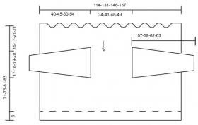 Жакет Клементина с прямоугольными полочками - Выкройка 1