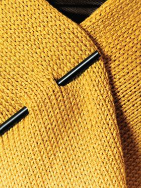 Кардиган с прямоугольными полочками - Фото 1
