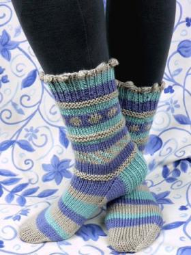Теплые яркие носки