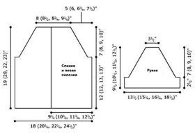 Кардиган со складками органди - Выкройка 1