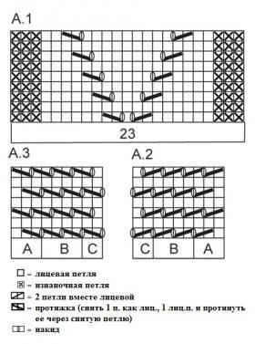 Оригинальный женский летний жакет спицами - Схема 1