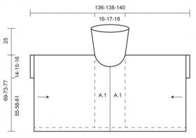 Пончо с кружевным узором - Выкройка 1