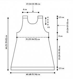 Платье для девочки первые шаги - Выкройка 1