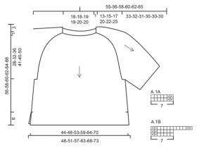 Джемпер пончо с ажурными рукавами - Схема 1