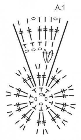 Круглая подстилка для стула - Схема 2