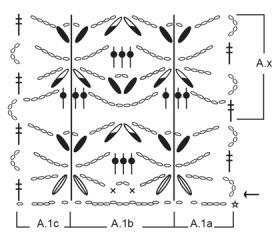 Жакет персиковый сорбет - Схема 1