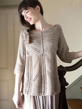 Пуловер с необычной конструкцией