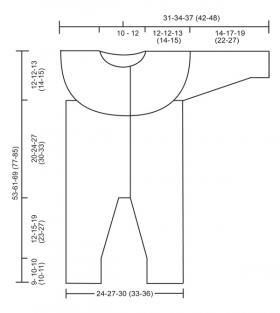 Комбинезон с жаккардовым узором - Выкройка 1