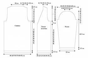 Кардиган с асимметричным воротником - Выкройка 1