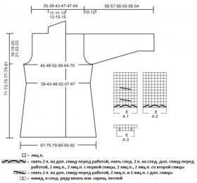 Удлиненный приталенный жакет со жгутами - Выкройка 1