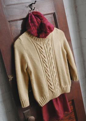 Офисный женский пуловер спицами