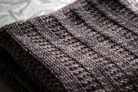 Одеяло с узором чулочная вязка - Фото 2