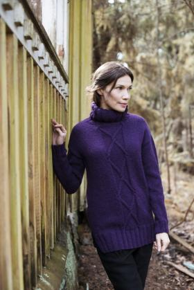 Пуловер с ромбовидным орнаментом