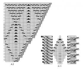 Шаль нежные листья - Схема 3