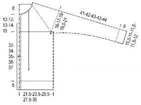 Узкий жакет с рукавом реглан - Выкройка 1
