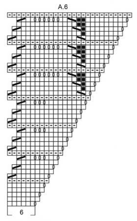Шаль Прилив - Схема 6