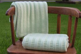 Одеяло с узором чулочная вязка - Фото 1