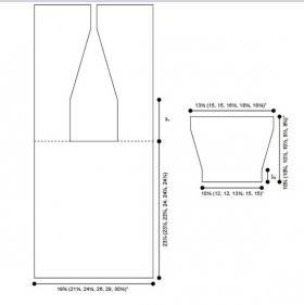 Удлиненный кардиган - Выкройка 1