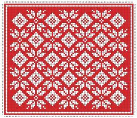 Рождественский плед со снежинками - Схема 1