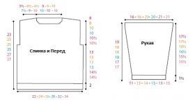 Свитер с большими квадратами - Выкройка 1