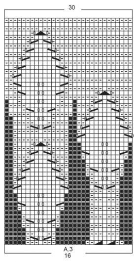 Комплект серебряные листья - Схема 2
