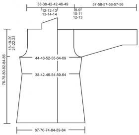 Длинный жакет спицами с рельефным узором - Выкройка 1