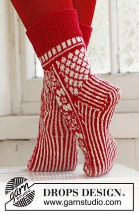 Жаккардовые носки спицами - Фото 1