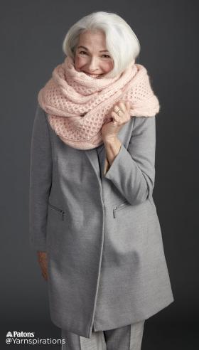Супер шарф с узором соты и жгуты - Фото 1