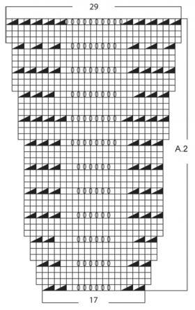 Ажурный жакет спицами без застежки - Схема 2