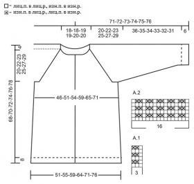 Кардиган лесная прогулка - Схема 1