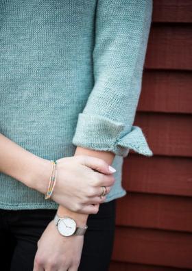Пуловер с декоративными манжетами - Фото 1