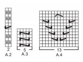 Гольфы Античные сны - Схема 2