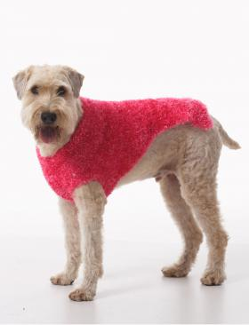 Розовое мохнатое пальто - Фото 2