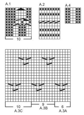 Джемпер винтажное очарование - Схема 1